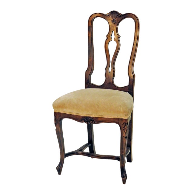 Traditional Carved Side Chair For Sale