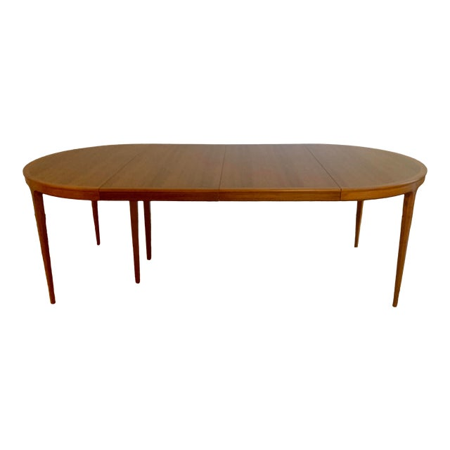 Vintage Swedish Walnut Dining Table by B. Fridhagen for Bodafors For Sale
