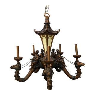 Camel and Pagoda Large Chandelier For Sale