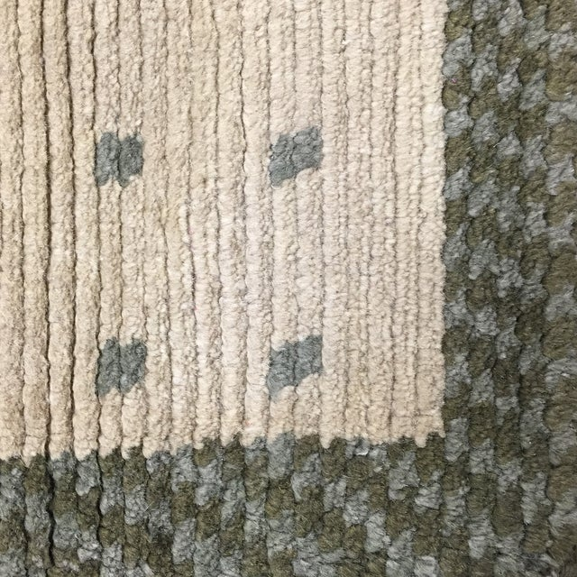 """Wool Cotton Rug From Nepal - 5'6"""" X 3'7"""" - Image 3 of 5"""