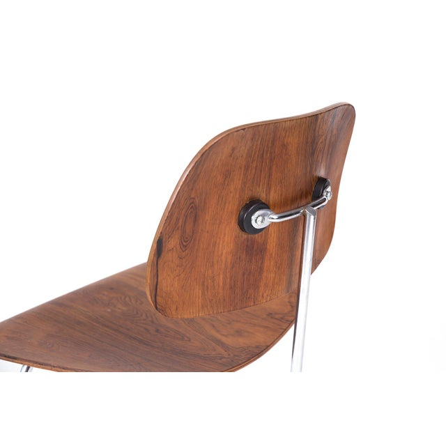 Mid-Century Modern Eames for Herman Miller Rosewood DCM Chair For Sale - Image 3 of 6