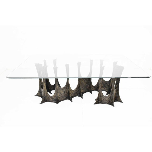 A spectacular and very rare sculptural Brutalist Paul Evans stalagmite base dining table, model PE102, signed PE72. The...