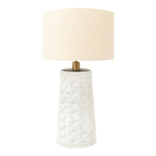Anaya Coastal Handwoven Rope Table Lamp For Sale