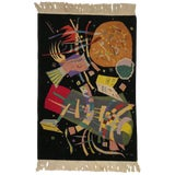 "Image of Art Deco Style Tapestry Inspired by Wassily Kandinsky's ""Composition X"" For Sale"