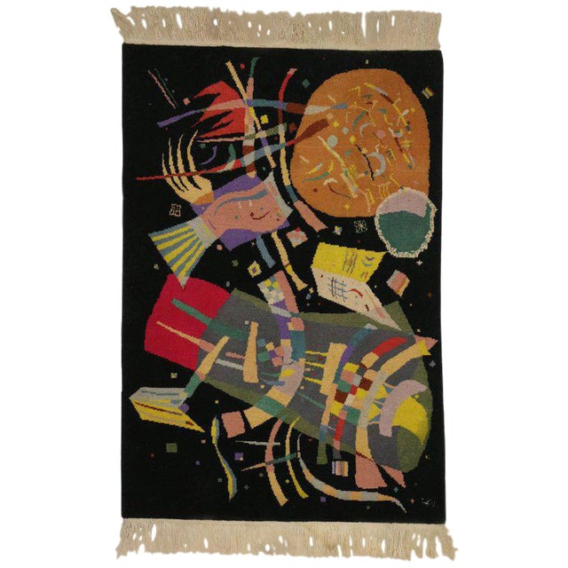 "Art Deco Style Tapestry Inspired by Wassily Kandinsky's ""Composition X"" For Sale"