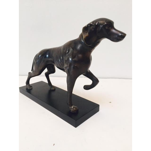 Bronze Hunting Dog Pointing Statue - Image 5 of 6
