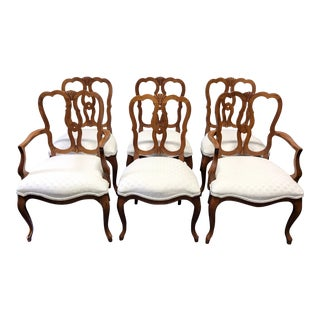 Kindel Borghese Cherry French Country Style Dining Chairs - Set of 6