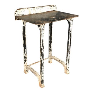 1930s Industrial Cast Iron Occasional Table For Sale