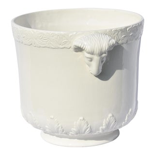 1900s Vintage Italian Ceramic Ram Planter For Sale