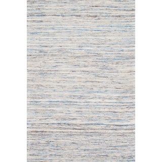 "Contemporary Blue Sari Silk Kilim - 9'0"" X 12'0"""