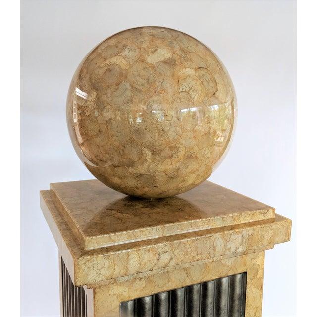Enrique Garcel Enrique Garcel Tessellated Stone Pedestal For Sale - Image 4 of 12