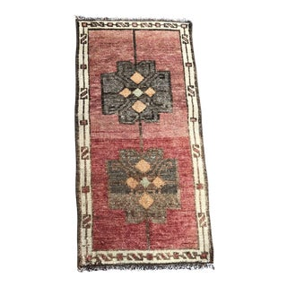 "Vintage Turkish Bohemian Rug-1'3'x2'6"" For Sale"