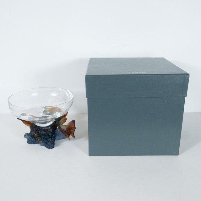 Art Deco Art Deco Style Crystal and Pâte De Verre Papillon Coupe by Daum For Sale - Image 3 of 13