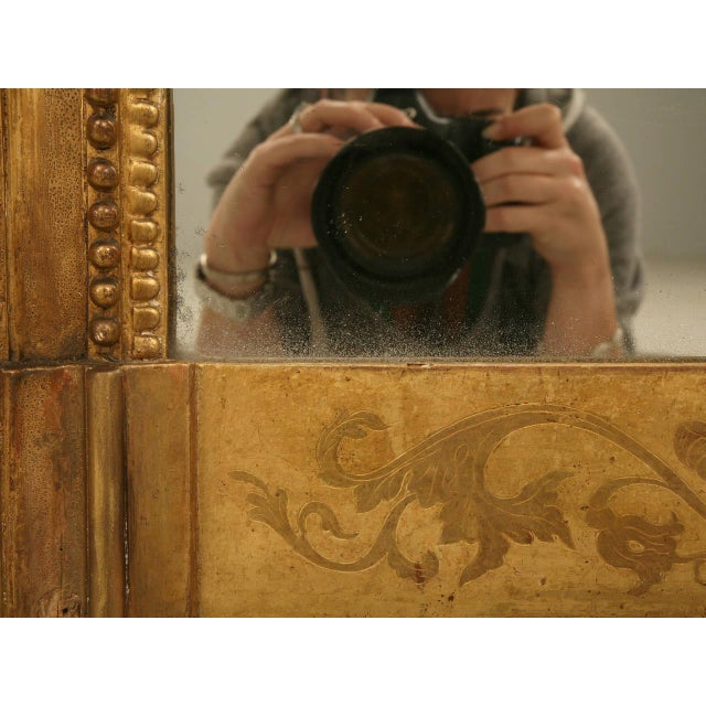 Giltwood Antique French Gilded Mirror, 1800s For Sale - Image 7 of 11