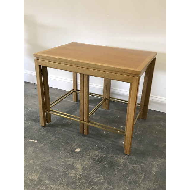 Brass 1950s Edward Wormley for Dunbar Nesting Tables-Set Of 3 For Sale - Image 8 of 9