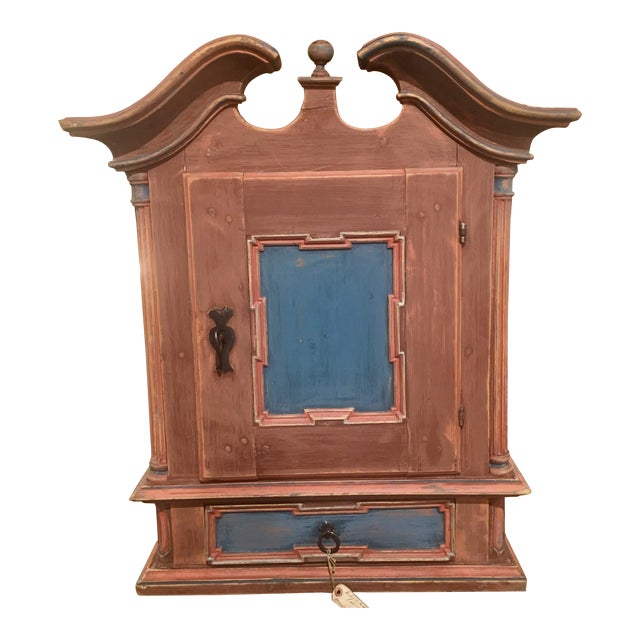 19th Century Antique Swedish Wall Cabinet For Sale