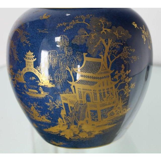 Carlston Ware Globe Shape Cobalt Blue & Gold Vase For Sale - Image 4 of 5