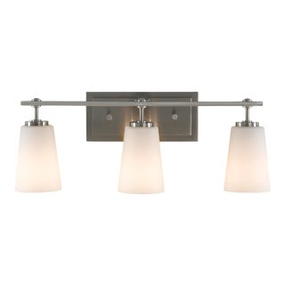 Ponder Three Light Wall / Bath, Silver For Sale