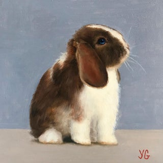 Baby Bunny Original Oil Painting For Sale