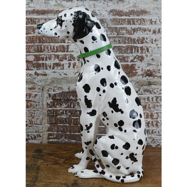 Vintage 1960s Ceramic Dalmatian Dog Figure For Sale - Image 6 of 13