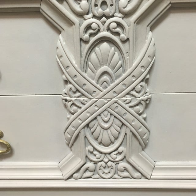 Marble Custom Painted Faux Marble Top Sideboard For Sale - Image 7 of 11