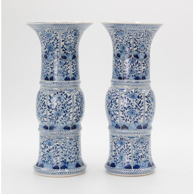 Blue Large Antique 19th-Century Dutch Delft Vases - a Pair For Sale - Image 8 of 8