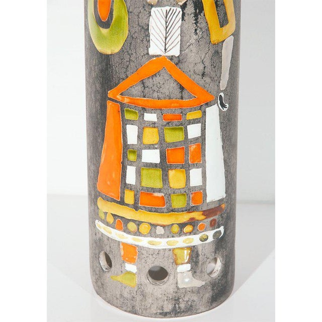 French Ceramic Lamp Shade by Roger Capron For Sale - Image 3 of 7