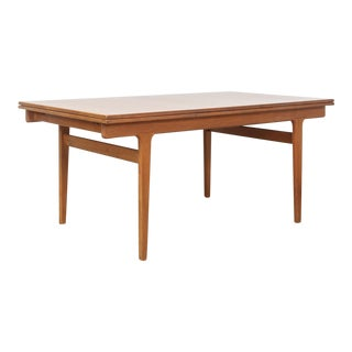 Mid Century Danish Modern Vejle Moebelfabrik Extendable Dining Table For Sale