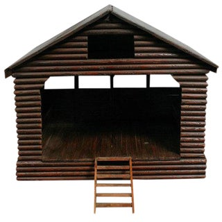 American Folk Art Barn/ Horse Stable Model For Sale