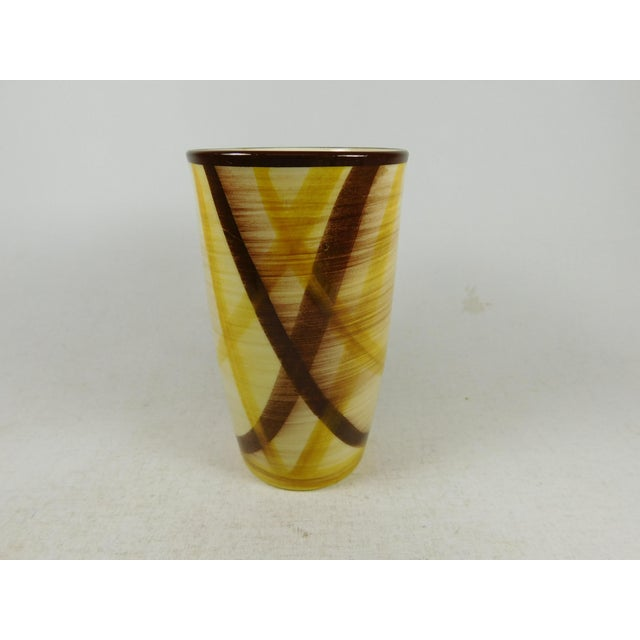 Vernon Kilns Vernonware Plaid Pottery Tumblers- Set of 8 For Sale - Image 4 of 8