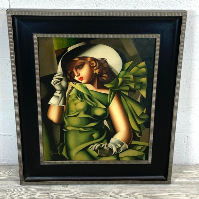 Young Lady With Gloves, After Tamara De Lempicka For Sale - Image 10 of 10