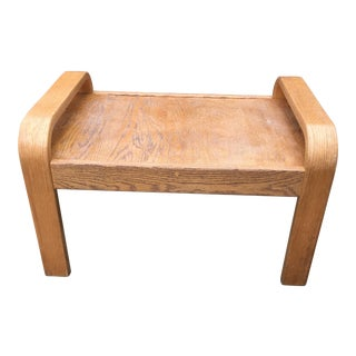 Mid-Century Brigger Bentwood Ottoman For Sale