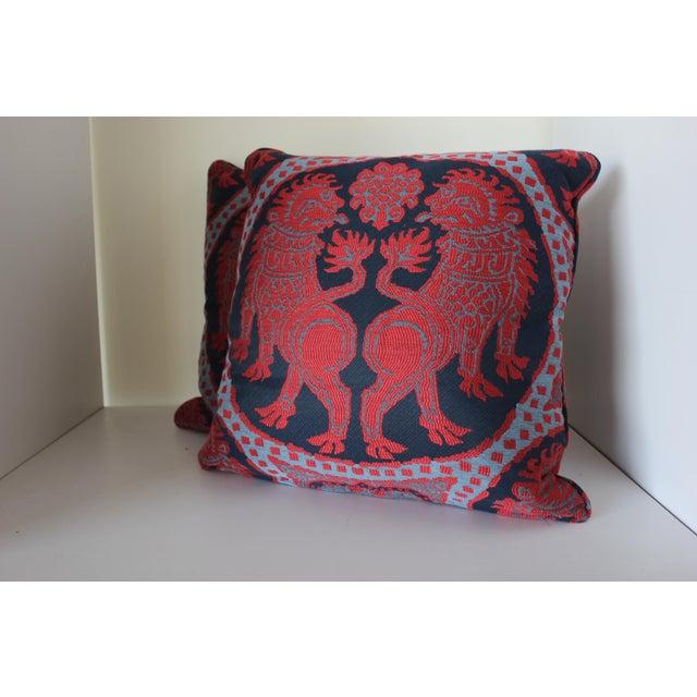 Robert Allen Robert Allen Asian Pup Pillows - Set of 2 For Sale - Image 4 of 4