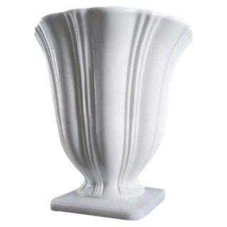 Art Deco Milk Glass Planter Urn Vase