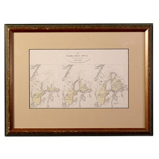 Antique Map Depicting the Swedish Empire's Between 1155 – 1397, Framed For Sale
