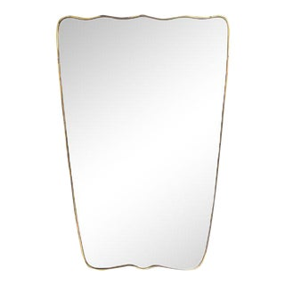 Unique Italian Brass Mirror, 1940s