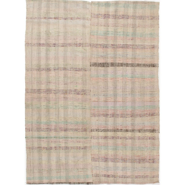 Turkish Fabric Kilim - 6'2 X 8'6 For Sale