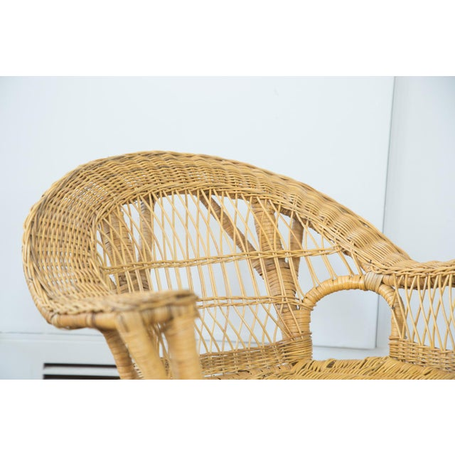Vintage Boho Wicker Child's Chair - Image 3 of 6