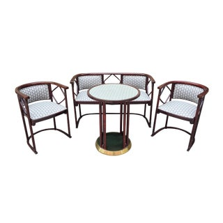 1930s Salon Suite by Josef Hoffmann for J & J Kohn and Mundus For Sale
