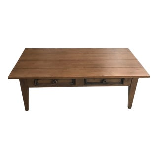 Ethan Allen Rectangular Tapered Leg Coffee Table For Sale