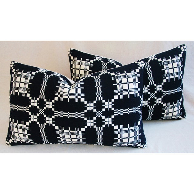 Custom 19th-C. New England Coverlet Pillows - Pair - Image 6 of 11