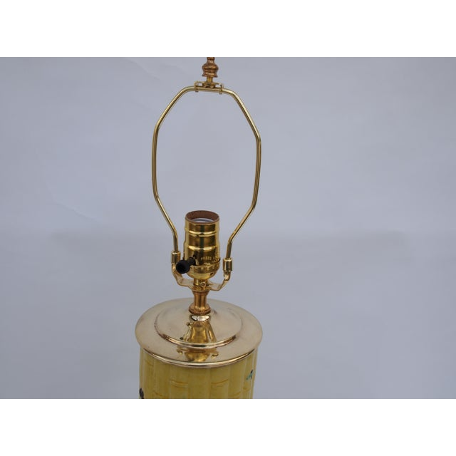 Chinese Bamboo Form Lamp For Sale - Image 4 of 6