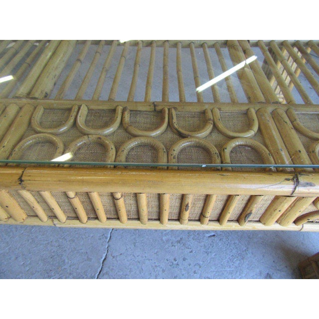 Intricate Natural Bamboo Dining Table For Sale - Image 10 of 13