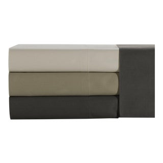Florence Solid Fitted Sheet Queen - Graphite For Sale