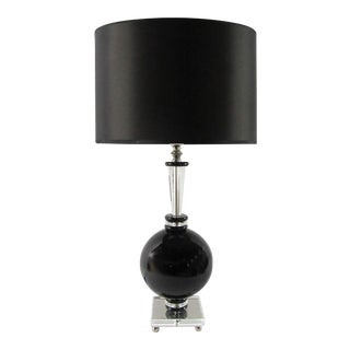 Bohemian Crystal Odessa Table Lamp From the Laudarte Srl Leo Mirai Collection For Sale