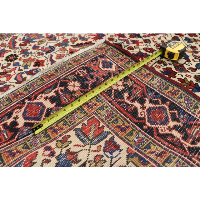 1920s Antique Persian Heriz Rug Runner - 04'09 X 12'02 For Sale - Image 5 of 10