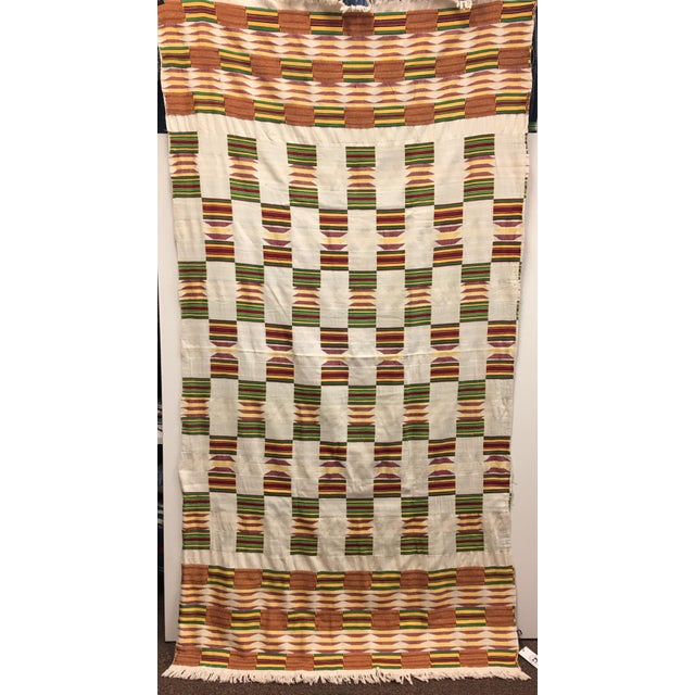 """African Tribal Vintage Textile Throw - 41"""" x 79"""" - Image 2 of 11"""