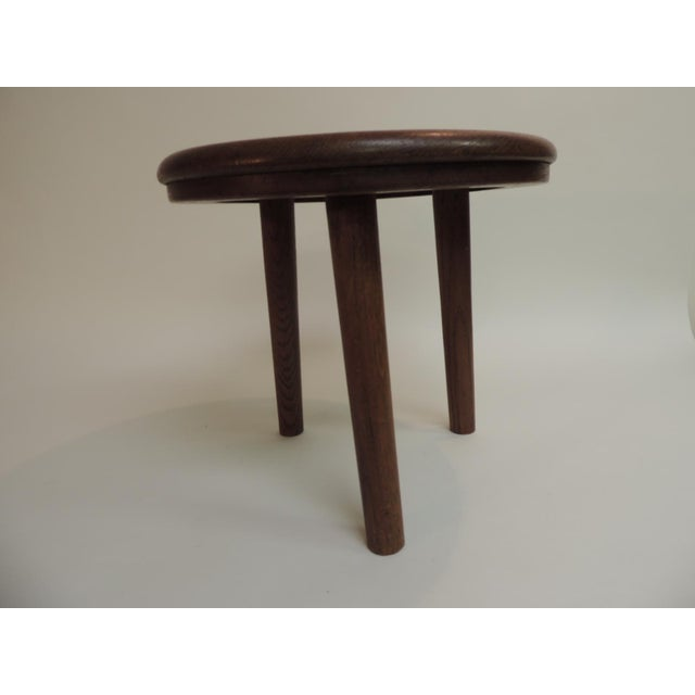 French Vintage Round Mid-Century Modern Low Stool or Table For Sale - Image 3 of 5