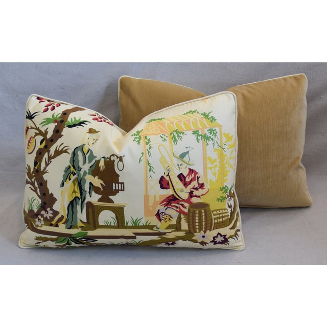 """Brunschwig Fils & Scalamandre Velvet Feather/Down Pillows 23"""" X 17"""" - Pair For Sale - Image 11 of 13"""