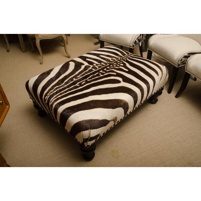 Zebra Skin Ottoman For Sale In New York - Image 6 of 6